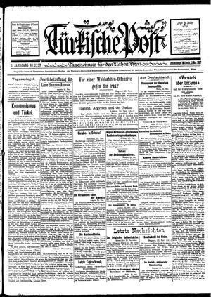 Türkische Post vom 23.11.1927