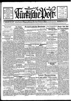 Türkische Post vom 24.11.1927