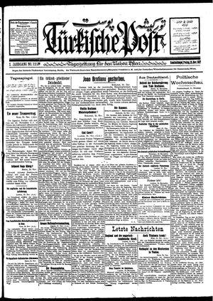 Türkische Post vom 25.11.1927