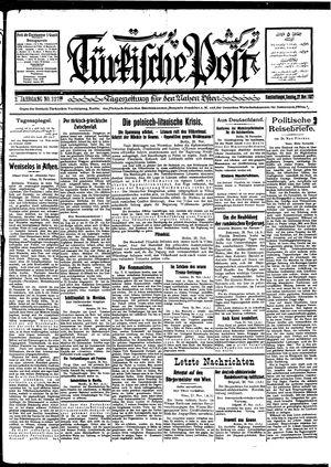 Türkische Post vom 27.11.1927