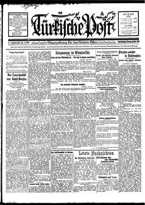 Türkische Post vom 29.11.1927