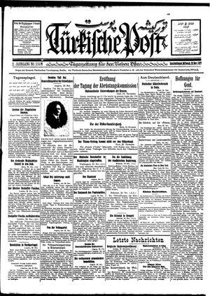 Türkische Post vom 30.11.1927