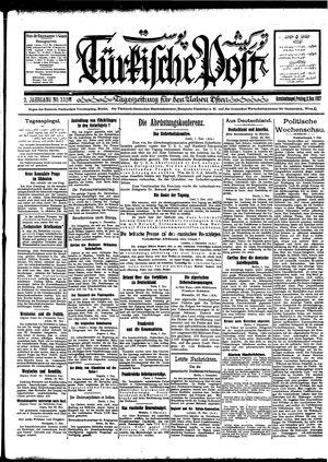 Türkische Post vom 02.12.1927