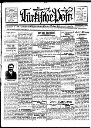 Türkische Post vom 06.12.1927