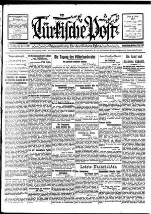 Türkische Post vom 07.12.1927