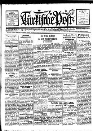 Türkische Post vom 11.12.1927