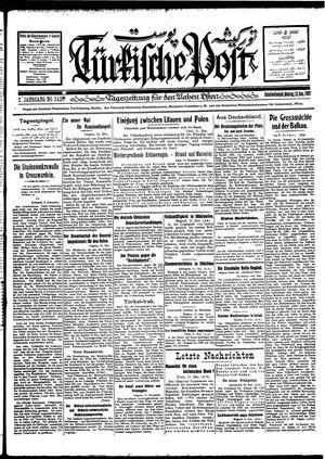 Türkische Post vom 12.12.1927