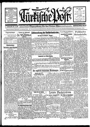 Türkische Post vom 13.12.1927