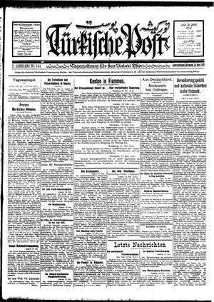 Türkische Post vom 14.12.1927