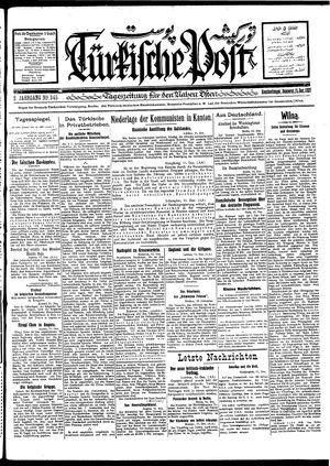 Türkische Post vom 15.12.1927