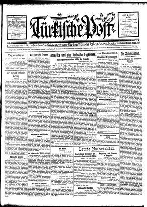 Türkische Post vom 22.12.1927