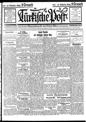 Türkische Post vom 25.12.1927
