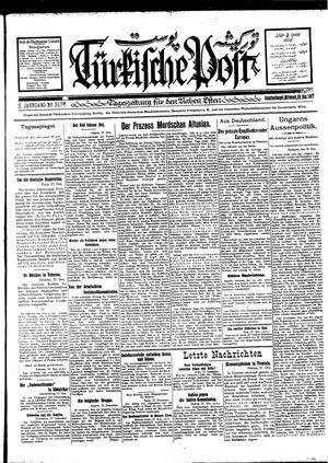 Türkische Post vom 28.12.1927