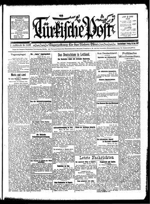 Türkische Post vom 30.12.1927