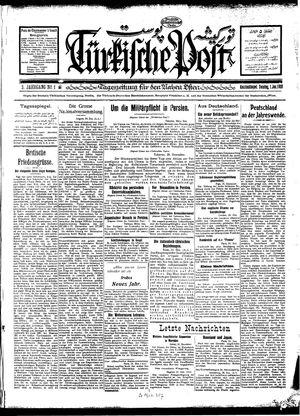 Türkische Post vom 01.01.1928