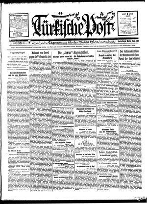 Türkische Post vom 02.01.1928