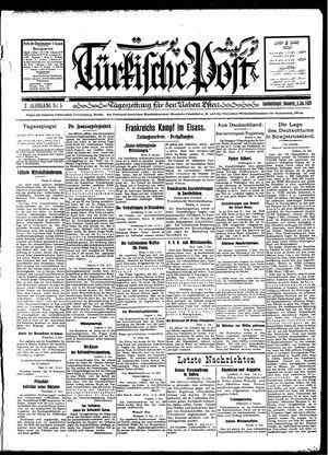 Türkische Post vom 05.01.1928