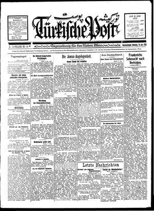 Türkische Post vom 10.01.1928