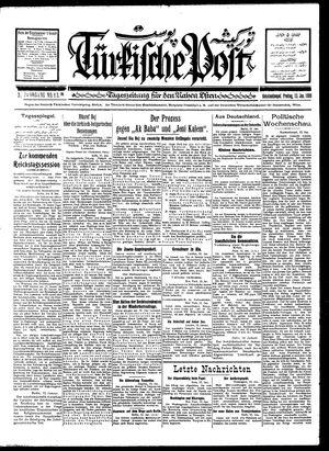 Türkische Post vom 13.01.1928