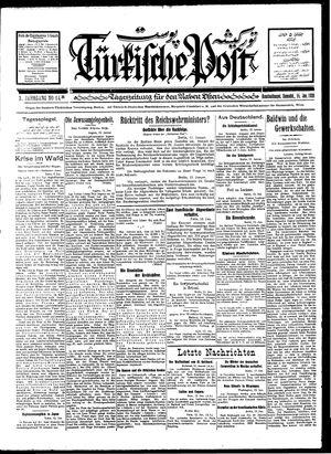 Türkische Post vom 14.01.1928