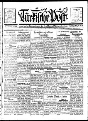 Türkische Post on Jan 16, 1928