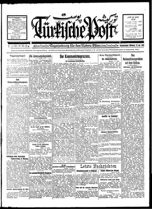 Türkische Post vom 18.01.1928