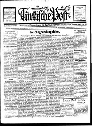 Türkische Post vom 19.01.1928