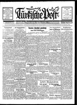Türkische Post vom 20.01.1928