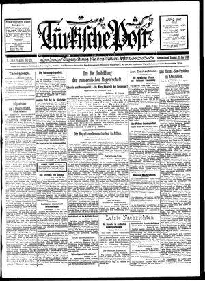 Türkische Post vom 21.01.1928