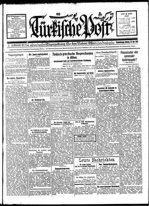 Türkische Post vom 23.01.1928