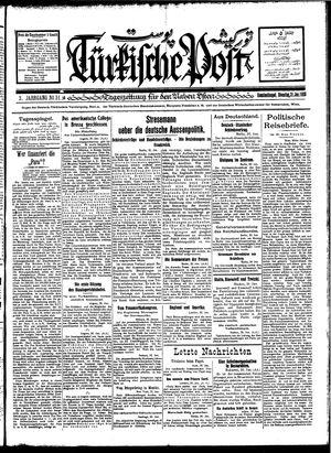 Türkische Post vom 31.01.1928
