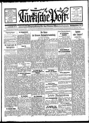 Türkische Post vom 01.02.1928