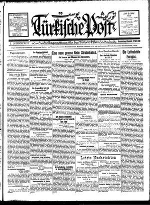 Türkische Post vom 02.02.1928