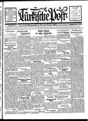 Türkische Post vom 05.02.1928