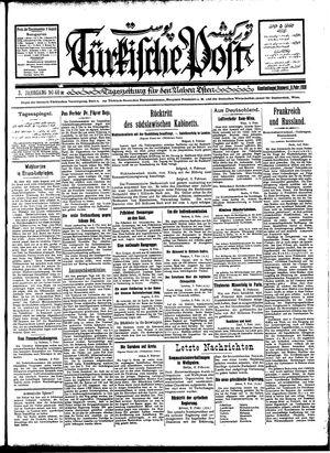 Türkische Post vom 09.02.1928