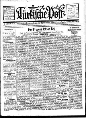 Türkische Post vom 13.02.1928