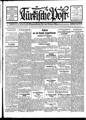 Türkische Post vom 02.03.1928