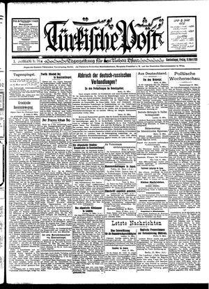 Türkische Post vom 16.03.1928