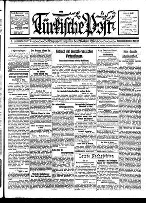 Türkische Post vom 17.03.1928