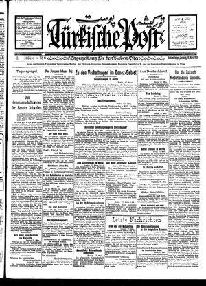 Türkische Post vom 18.03.1928