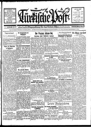 Türkische Post vom 19.03.1928