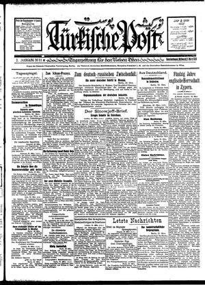 Türkische Post vom 21.03.1928