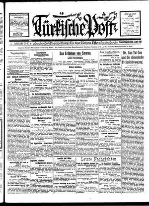 Türkische Post vom 03.04.1928