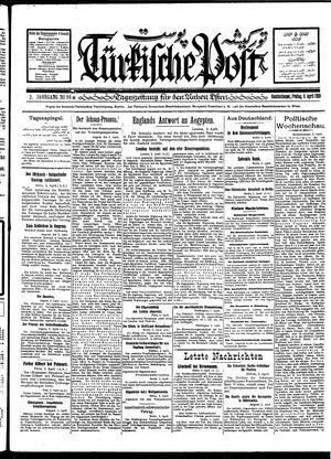 Türkische Post vom 06.04.1928