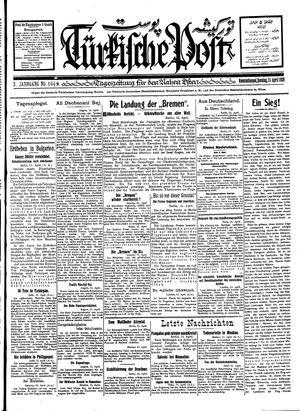 Türkische Post vom 15.04.1928