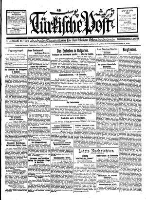Türkische Post vom 16.04.1928