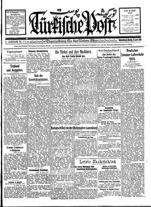 Türkische Post vom 23.04.1928