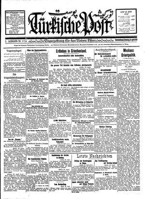 Türkische Post vom 24.04.1928