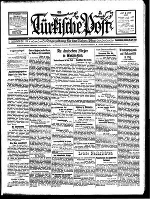Türkische Post vom 29.04.1928