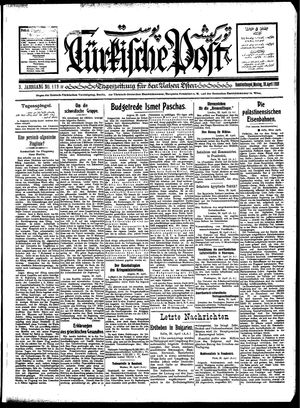 Türkische Post vom 30.04.1928
